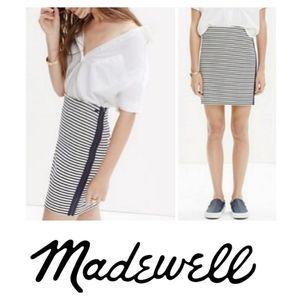 Madewell   Eventide Striped Mini Skirt